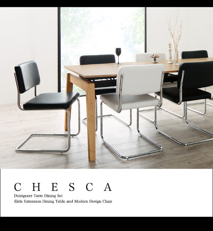 CHESCA Deisigners Taste Dining Set Slide Extension Dining Table and Modern Design Chair
